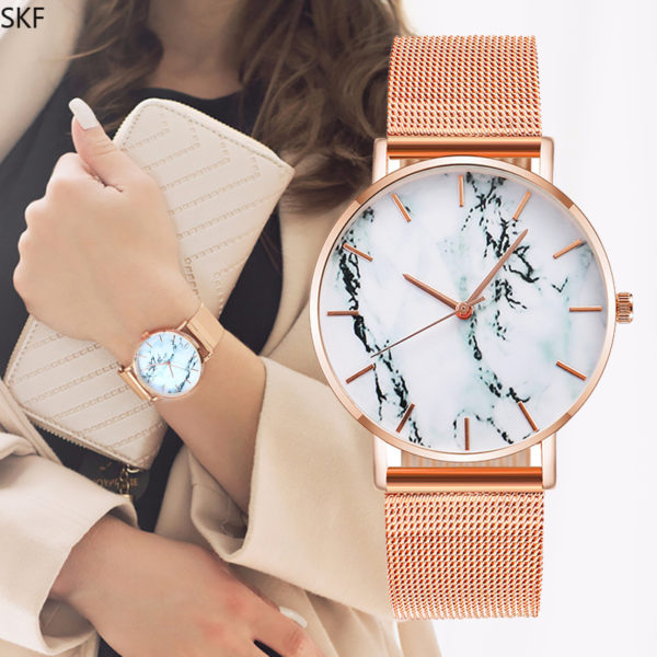 Women's Marble Mesh Watch01