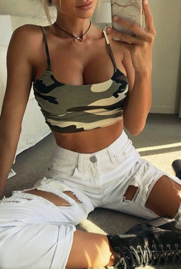 Babe Camouflage Crop Top 02
